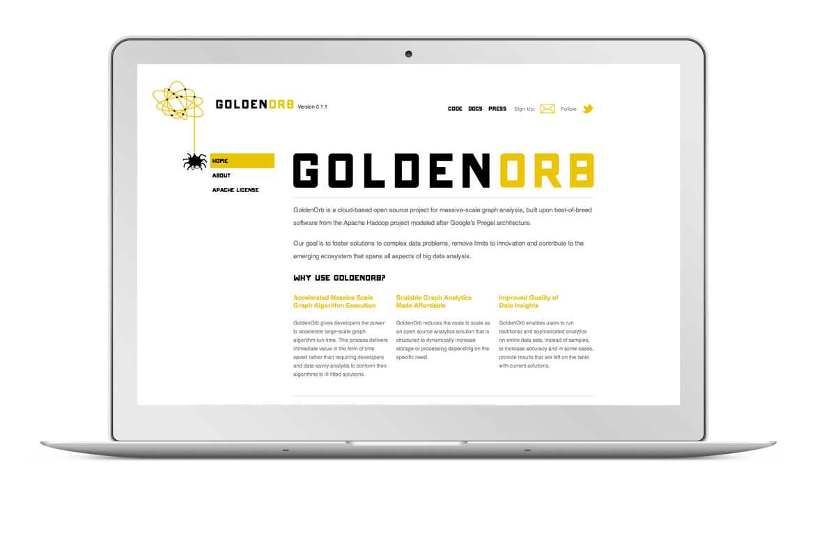 golden orb website homepage